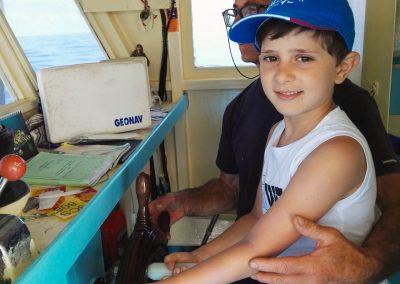 Escursione in barca per bambini