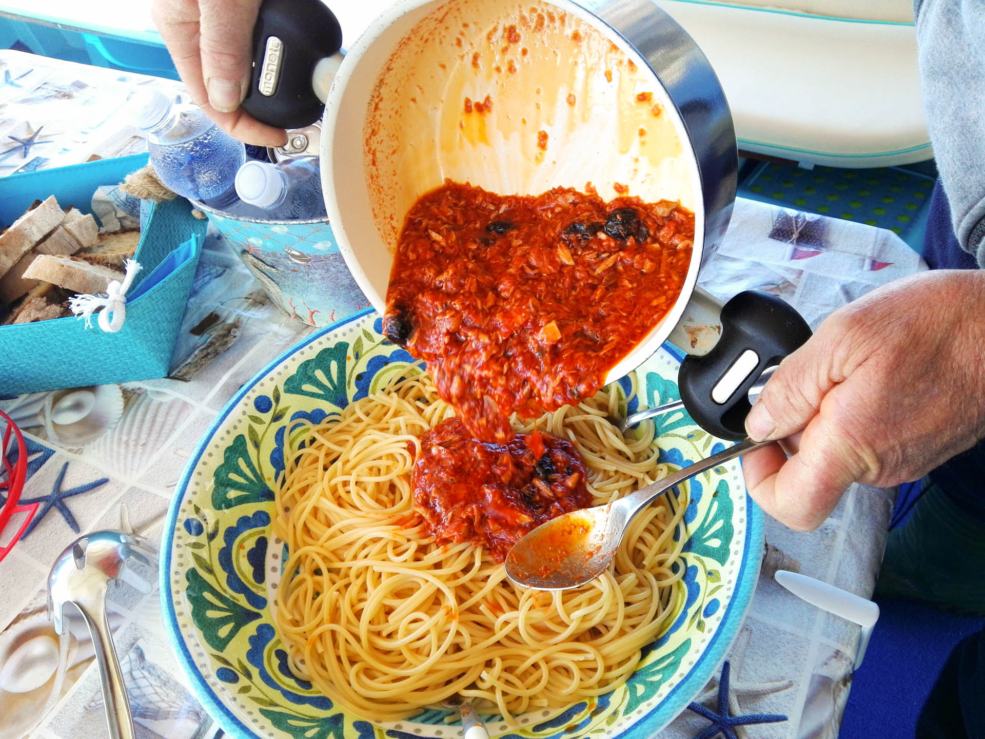 Italian lunch on the SalBoat