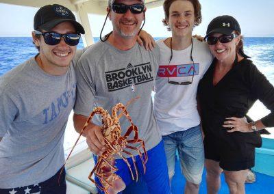 Lobster fishing in Capri