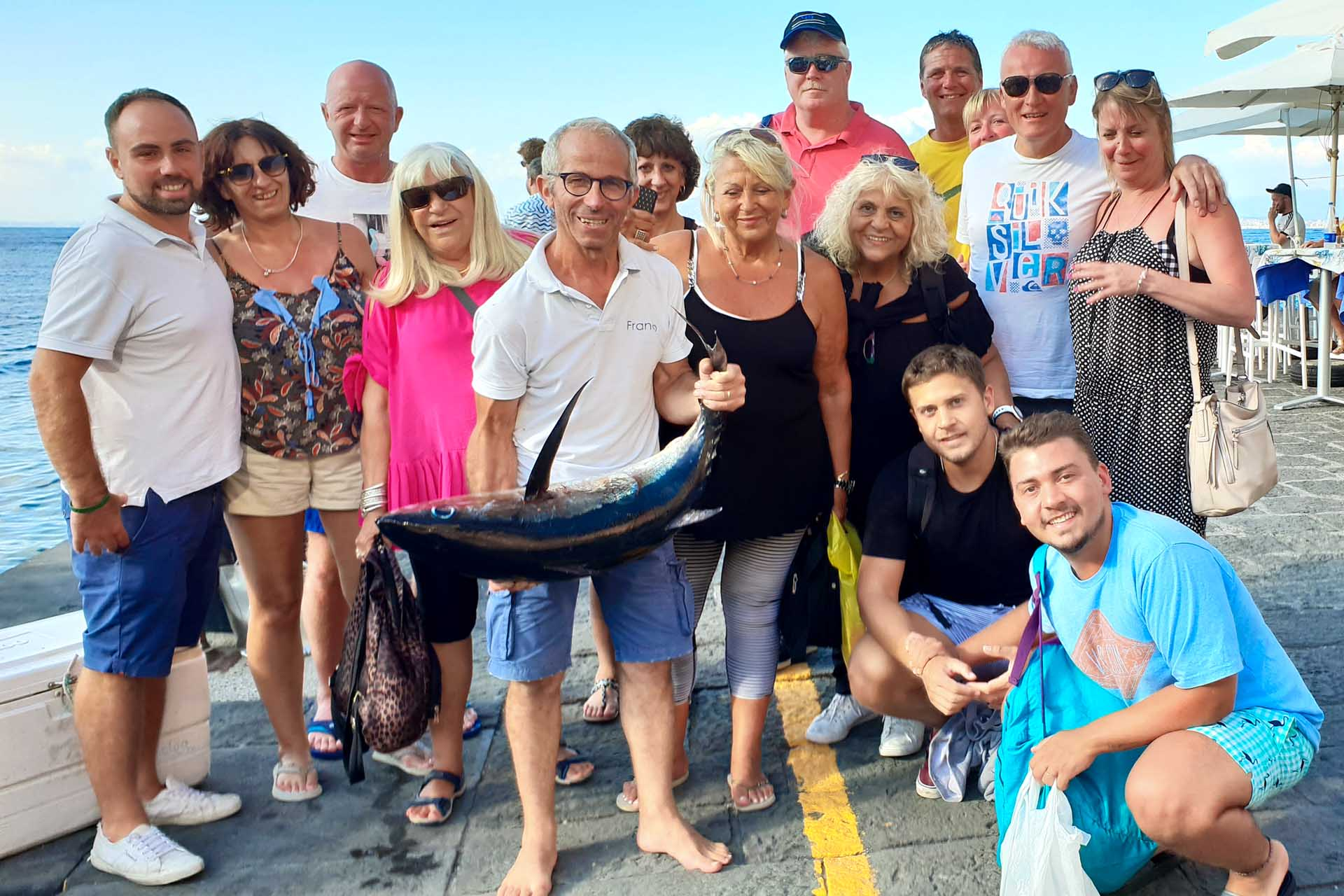 Big tuna fished in Sorrento boat tour