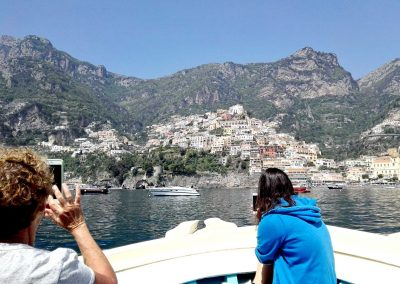 Boat tour, disembark and excursion at Positano