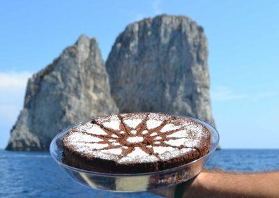 Caprese cake with Faraglioni
