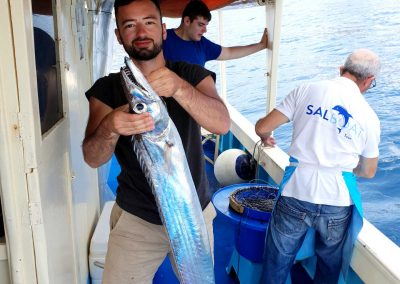 Fishing excursion on boat in Sorrento Peninsula
