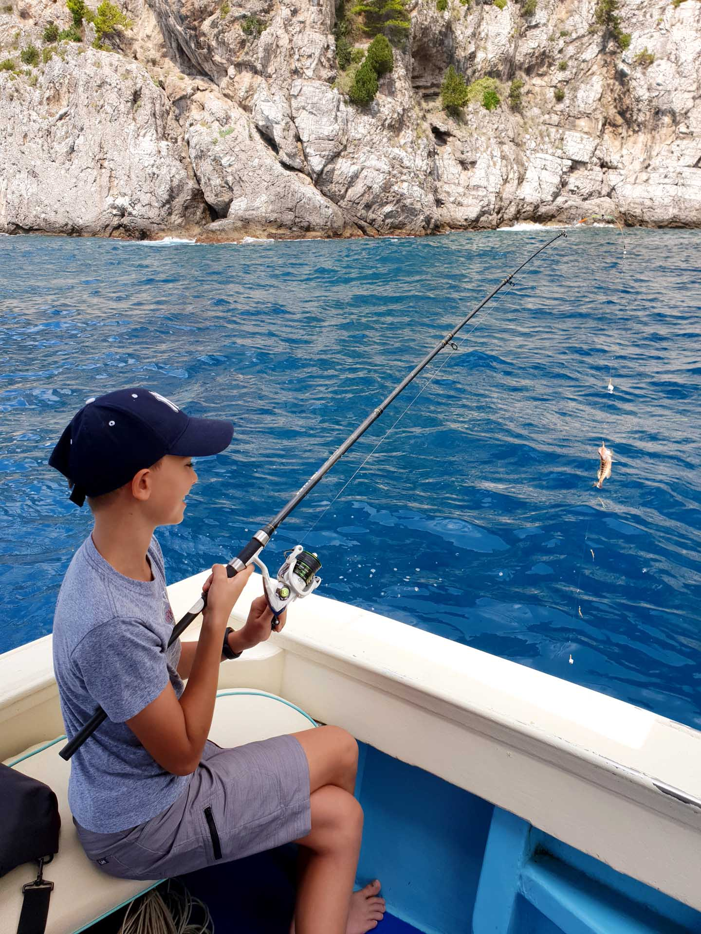 Fishing experience trip for perfect for child