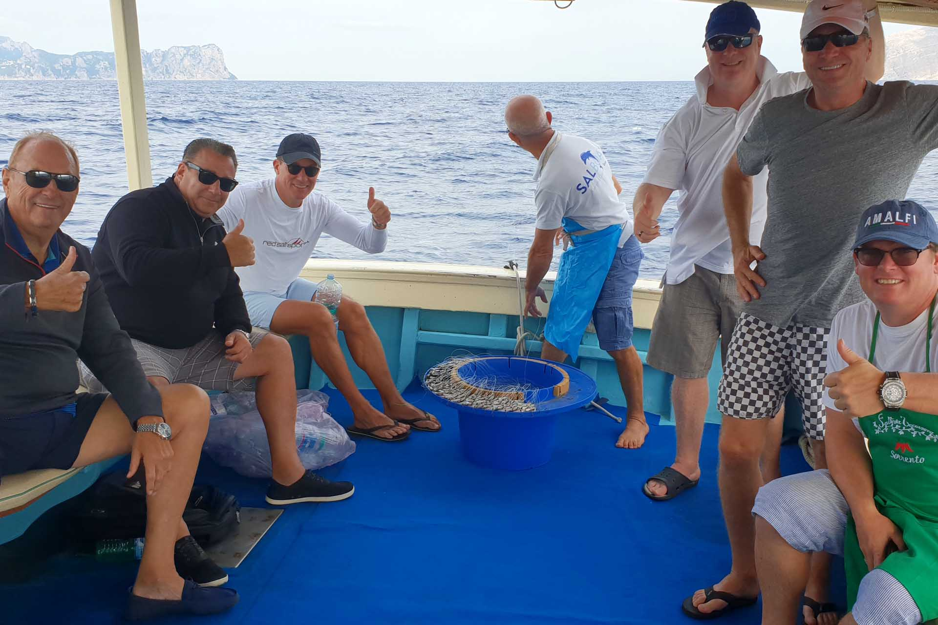 Fishing tour for groups in Sorrento