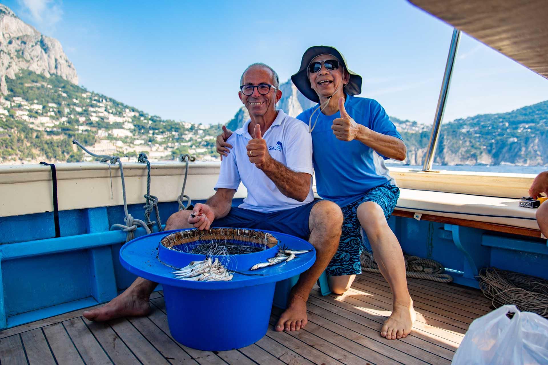Escursione di pescaturismo a Capri con partenza da Sorrento