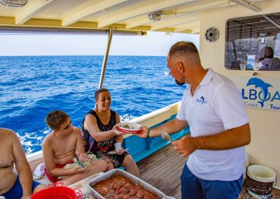 Family-friendly boat trip to Capri