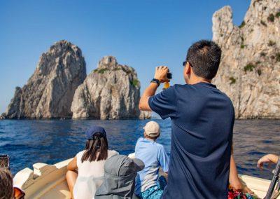 Giro dell'isola di Capri con la barca da Sorrento