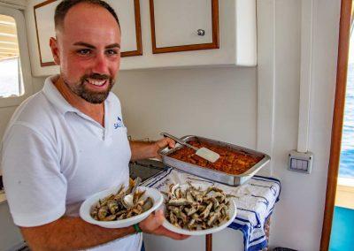 Salvatore cucina il pescato del giorno